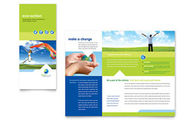 Green Living & Recycling - Tri Fold Brochure Template Design Sample