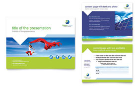 Green Living & Recycling - PowerPoint Presentation Template Design Sample