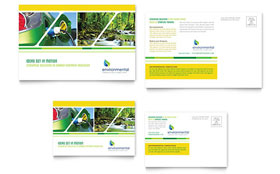 Environmental Conservation - Postcard Template Design Sample