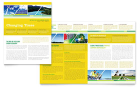 Environmental Conservation - Newsletter Template Design Sample