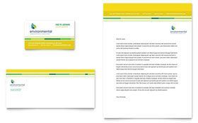 Environmental Conservation - Business Card & Letterhead Template Design Sample