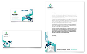 Oil & Gas Company - Business Card & Letterhead Template