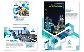 Oil & Gas Company - Flyer & Ad Template