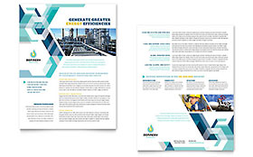 Oil & Gas Company - Datasheet Template