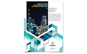 Oil & Gas Company - Flyer Sample Template