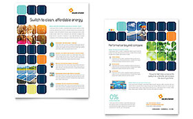 Solar Energy - Sales Sheet Sample Template