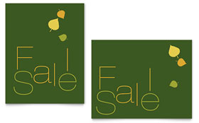 Falling Leaves - Sale Poster Template