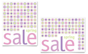 Geometric Spring Color - Sale Poster Template