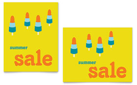 Summer Popsicles - Sale Poster Template