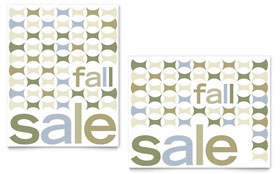 Geometric Fall Color - Sale Poster Template