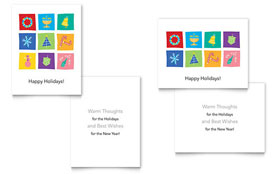 Holiday Icons - Greeting Card Template