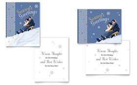Children Sledding - Greeting Card