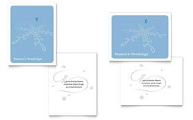 Ice Skating - Greeting Card Sample Template