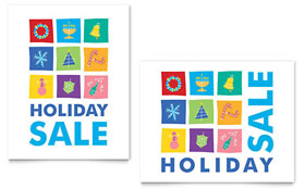Holiday Icons - Sale Poster Template
