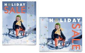 Child Sledding - Sale Poster Template Design Sample