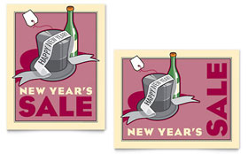 New Year's Champagne - Poster
