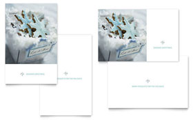 Snowflake Cookies - Greeting Card Sample Template
