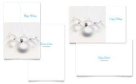 Silver Ornaments - Greeting Card Template