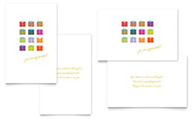 Christmas Presents - Greeting Card Template
