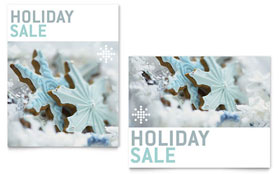 Snowflake Cookies - Poster Sample Template