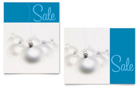 Silver Ornaments - Sale Poster Template