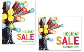 Christmas Lights - Sale Poster Template