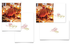 Happy Thanksgiving - Greeting Card Template Design Sample