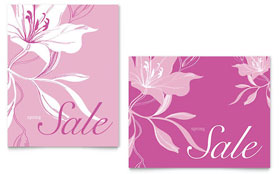 Pink Flowers - Poster Sample Template