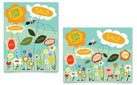 Spring & Summer Flowers - Poster Sample Template