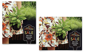Garden Plants - Poster Sample Template