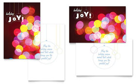 Holiday Lights - Greeting Card Sample Template