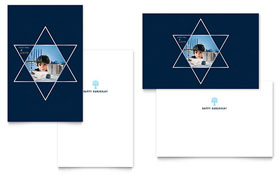Star of David - Greeting Card Template Design Sample