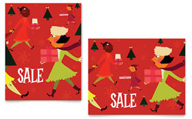 Holiday Shoppers - Sale Poster Template