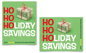 Holiday Savings - Sale Poster