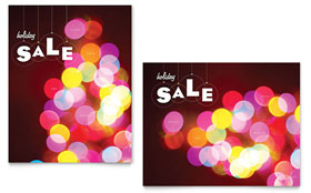 Holiday Lights - Sale Poster Template
