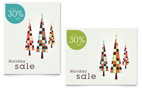 Modern Holiday Trees - Poster Sample Template