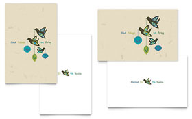 Glad Tidings - Greeting Card Template Design Sample