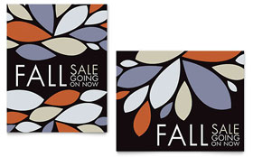 Contemporary Leaves - Sale Poster Template Design Sample
