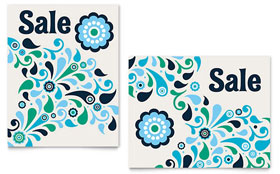 Winter Color Floral - Poster Sample Template