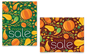Thanksgiving Harvest - Sale Poster Template