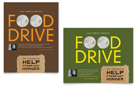 Holiday Food Drive Fundraiser - Poster Template Design Sample