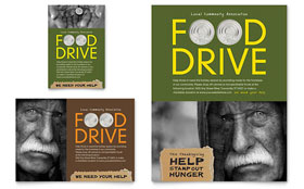 Holiday Food Drive Fundraiser - Flyer & Ad Template Design Sample