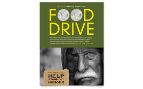 Holiday Food Drive Fundraiser - Flyer Template Design Sample