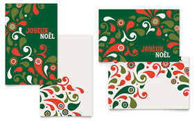 Festive Holiday - Greeting Card Template