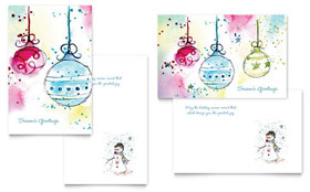 Whimsical Ornaments - Greeting Card Template