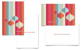 Modern Ornaments - Greeting Card Template