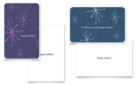 Snowflake Wishes - Greeting Card Sample Template