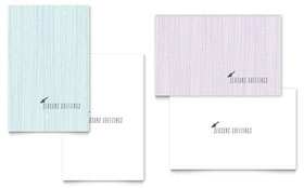 Snow Bird - Greeting Card Sample Template