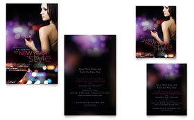 New Year Invite - Note Card Template