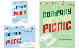 Company Summer Picnic - Flyer & Ad Template